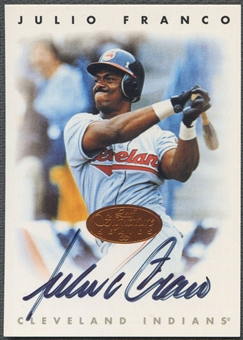 1996 Leaf Signature #72 Julio Franco Auto