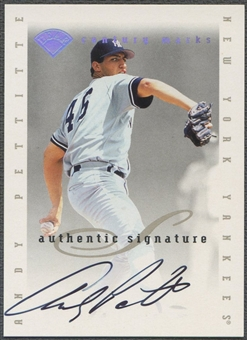 1996 Leaf Signature Extended #23 Andy Pettitte Century Marks Auto