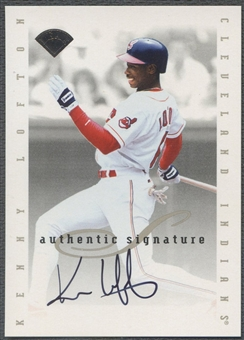 1996 Leaf Signature Extended #111 Kenny Lofton Auto SP