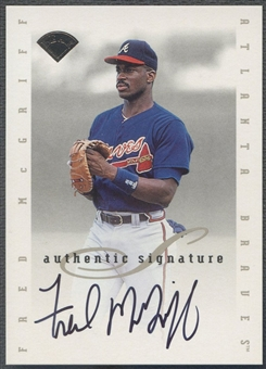 1996 Leaf Signature Extended #124 Fred McGriff Auto