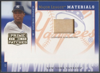 2005 Prime Patches #75 Alfonso Soriano Materials Bat #096/150