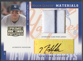 2005 Prime Patches #30 Nick Johnson Major League Materials Jersey Auto #037/200
