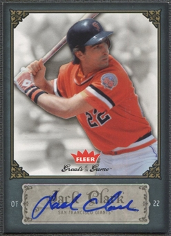 2006 Greats of the Game #48 Jack Clark Auto