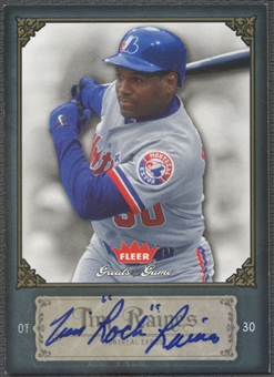"2006 Greats of the Game #91 Tim Raines Auto ""Rock"""