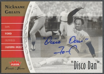 "2006 Greats of the Game #DF Dan Ford Nickname Greats Auto ""Disco Dan"""
