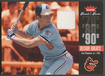 2006 Greats of the Game #CR Cal Ripken Decade Greats Memorabilia Pants