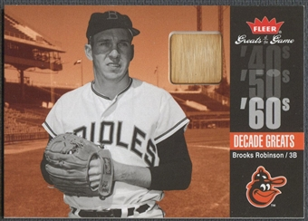 2006 Greats of the Game #BR Brooks Robinson Decade Greats Memorabilia Bat