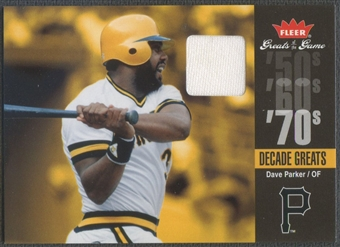 2006 Greats of the Game #DP Dave Parker Decade Greats Memorabilia Pants