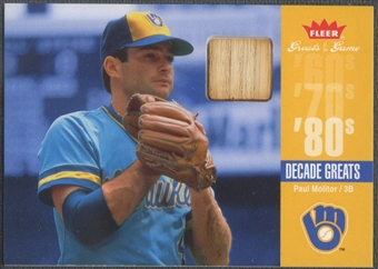 2006 Greats of the Game #PM Paul Molitor Decade Greats Memorabilia Bat