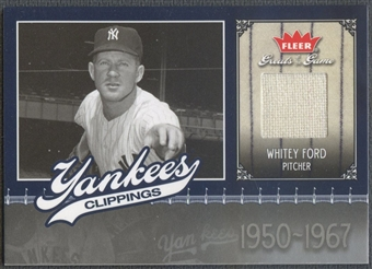 2006 Greats of the Game #WF Whitey Ford Yankee Clippings Memorabilia Pants