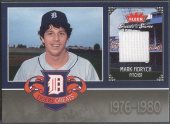 2006 Greats of the Game #MF Mark Fidrych Tigers Greats Memorabilia Jersey