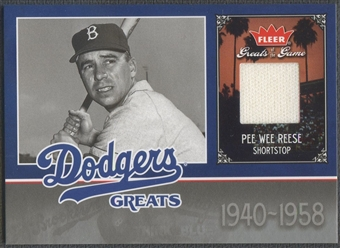 2006 Greats of the Game #PR Pee Wee Reese Dodgers Greats Memorabilia Jersey