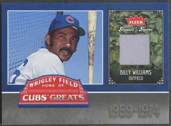 2006 Greats of the Game #BW Billy Williams Cubs Greats Memorabilia Jersey
