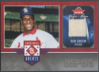 2006 Greats of the Game #BG Bob Gibson Cardinals Greats Memorabilia Pants