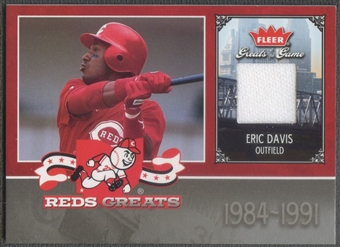 2006 Greats of the Game #ED Eric Davis Reds Greats Memorabilia Jersey
