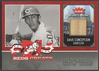 2006 Greats of the Game #DC Dave Concepcion Reds Greats Memorabilia Bat