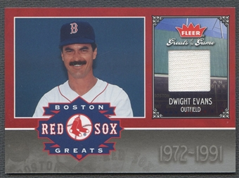 2006 Greats of the Game #DE Dwight Evans Red Sox Greats Memorabilia Jersey