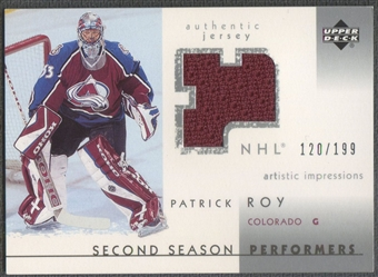 2002/03 UD Artistic Impressions #SSPR Patrick Roy Performers Jersey #120/199