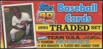 1991 Topps Traded & Rookies Baseball Retail Factory Set