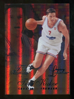 2012/13 Upper Deck Fleer Retro 96-97 Flair Legacy Row 1 #96FL19 Toni Kukoc /150