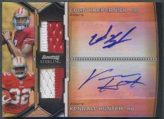 2011 Bowman Sterling #BSDAPKH Colin Kaepernick & Kendall Hunter Rookie Dual Patch Auto #1/5