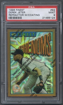 1996 Finest #92 Derek Jeter Refractor With Coating PSA 9