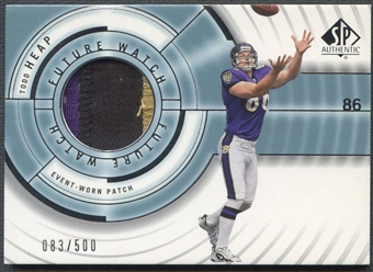 2001 SP Authentic #108 Todd Heap Rookie Patch #083/500