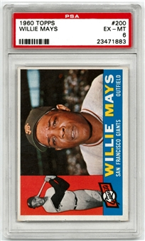 1960 Topps Baseball #200 Willie Mays PSA 6 (EX-MT) *1883*