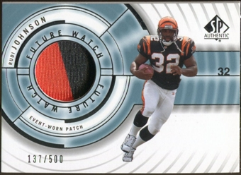 2001 Upper Deck SP Authentic #111 Rudi Johnson Jersey 137/500