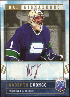 2006/07 Upper Deck Be A Player Signatures #RL Roberto Luongo Autograph