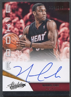 2012/13 Absolute #163 Norris Cole Rookie Auto #114/249