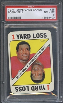 1971 Topps Football Game #26 Bobby Bell PSA 8 (NM-MT) *8400
