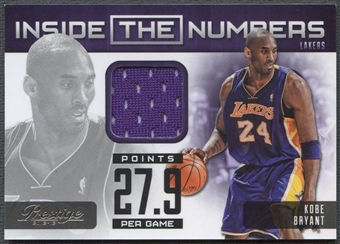 2012/13 Prestige #2 Kobe Bryant Inside the Numbers Materials Jersey