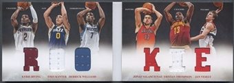 2012/13 Panini Preferred #9 Kyrie Irving Williams Kanter Thompson Valanciunas Vesely Rookie Jersey #123/249