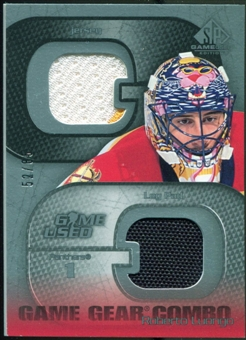 2003/04 Upper Deck SP Game Used Game Gear Combo #GCRL Roberto Luongo /85