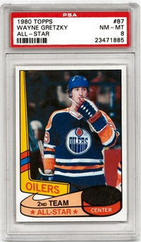 1980/81 Topps Hockey #87 Wayne Gretzky All-Star PSA 8 (NM-MT) *1885*