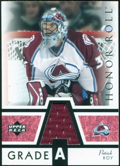 2002/03 Upper Deck Honor Roll Grade A Jerseys #GAPR Patrick Roy