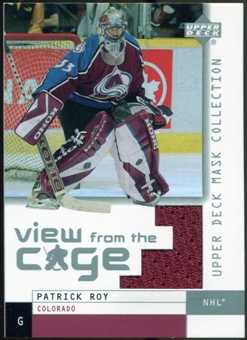 2002/03 Upper Deck UD Mask Collection View from the Cage Jerseys #VPR Patrick Roy