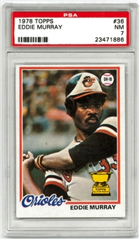 1978 Topps Baseball #36 Eddie Murray Graded PSA 7 (NM) *1886*