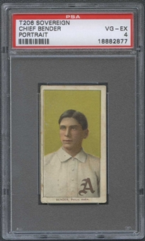 1909-11 T206 Sovereign Chief Bender (Portrait) PSA 4 (VG-EX) *2877