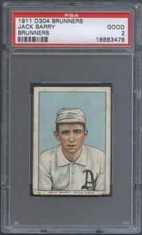 1911 D304 Brunners Jack Barry PSA 2 (GOOD) *3478