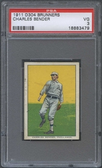 1911 D304 Brunners Charles (Chief) Bender PSA 3 (VG) *3479