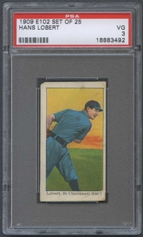 1909 E102 Set Of 25 Hans Lobert PSA 3 (VG) *3492