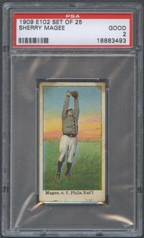 1909 E102 Set Of 25 Sherry Magee PSA 2 (GOOD) *3493