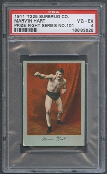 1911 T225 Surbrug Co. Boxing Marvin Hart PSA 4 (VG-EX) *3628