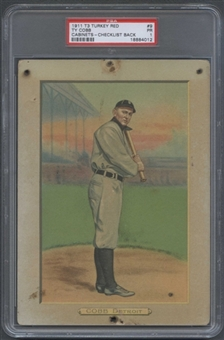 1910/11 T3 Turkey Red (Checklist Back) Baseball #9 Ty Cobb PSA 1 (PR) *4012