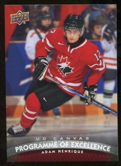 2011/12 Upper Deck Canvas #C256 Adam Henrique POE