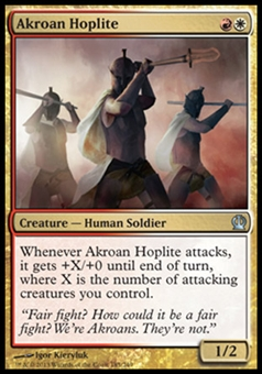 Magic the Gathering Theros Single Akroan Hoplite - NEAR MINT (NM)