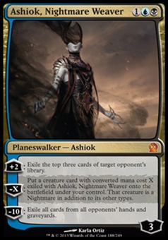 Magic the Gathering Theros Single Ashiok, Nightmare Weaver - NEAR MINT (NM)