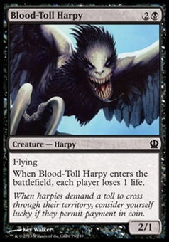 Magic the Gathering Theros Single Blood-Toll Harpy - NEAR MINT (NM)